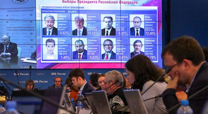 За Владимира Путина в Чувашии отдали голоса 77,29% избирателей