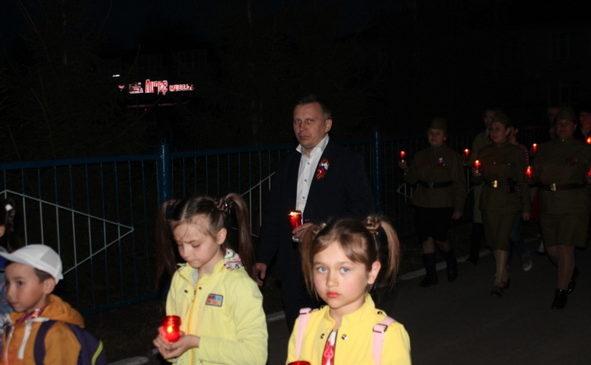 В Комсомольском районе состоялось факельное шествие «Свеча памяти»