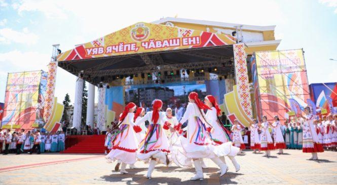 Глава Чувашии Михаил Игнатьев приветствовал участников VI Всечувашского праздника «Акатуй»