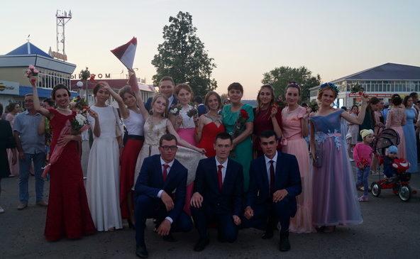 Парад выпускников в Комсомольском