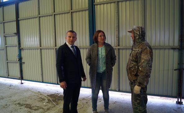 Заместитель министра сельского хозяйства Чувашской Республики Татьяна Рябинина посетила в Комсомольском районе строящиеся сельскохозяйственные объекты