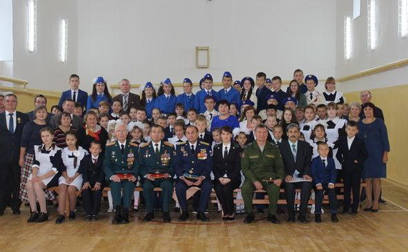 Офицеры общественной организации  «Сыны Отечества» — в МБОУ «Полевошептаховская СОШ»