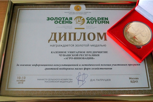 Сельхозтоваропроизводители  удостоены 63 медалей на выставке «Золотая осень»