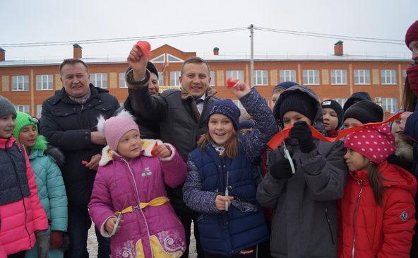Открытие спортплощадки в Чичканской ООШ
