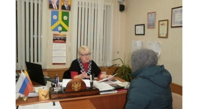 В администрации Комсомольского сельского поселения состоялся прием граждан