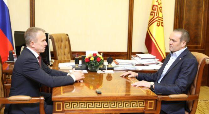 Михаил Игнатьев обсудил вопросы реализации национальных проектов с членом Комитета Совета Федерации РФ по экономической политике Владимиром Кравченко