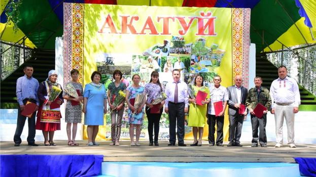 В Ибресинском районе состоялся праздник песни, труда и спорта «Акатуй-2019»