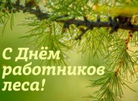 Поздравление главы Комсомольского района — председателя Собрания депутатов района Х.С. Идиатуллина и главы администрации Комсомольского района А.Н. Осипова с Днём работников леса