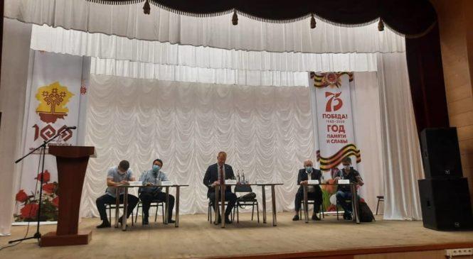 В Комсомольском районе состоялась встреча кандидатов на должность Главы Чувашской Республики