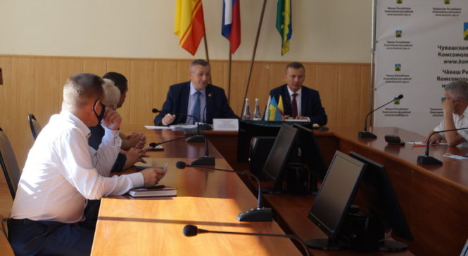 Председатель ГКЧС Чувашии Вениамин Петров с рабочим визитом в районе
