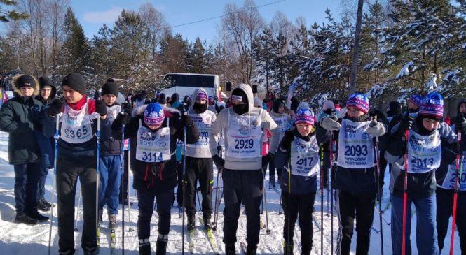 В селе Комсомольское проведена лыжная гонка