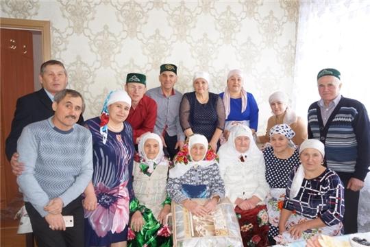 Юнусовой Зейтуне Сабирзяновне из д. Чичканы исполнилось 90 лет