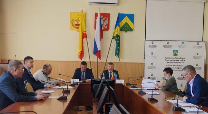 Состоялось очередное заседание Собрания депутатов Комсомольского района